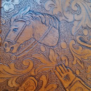 Original Naugahyde Western Embossed Pattern.