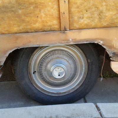 Wheel well board.