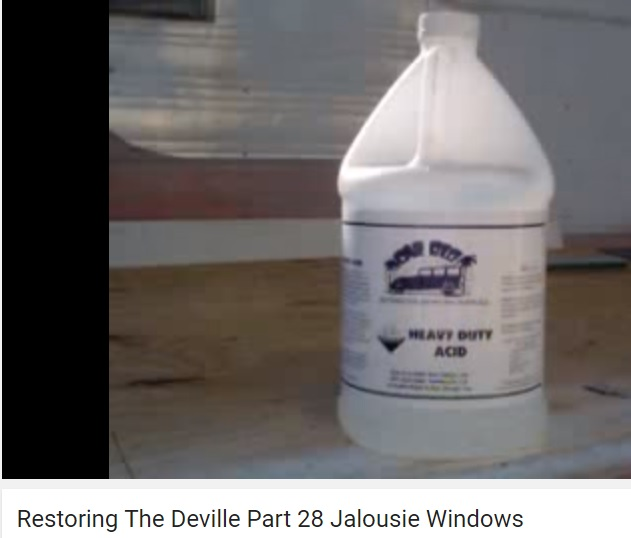 Acid for window cleaning - 50/50 mix.